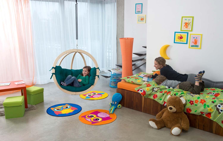 h ngematte h ngesessel kinder amazonas kid 39 s globo kissen green bei. Black Bedroom Furniture Sets. Home Design Ideas