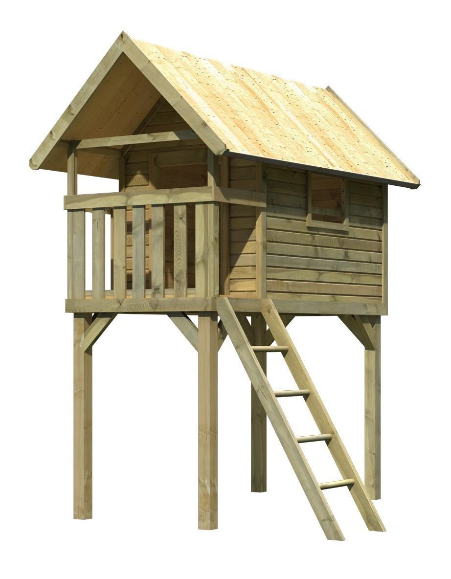 baumhaus stelzenhaus kinderspielsystem gernegro karibu. Black Bedroom Furniture Sets. Home Design Ideas