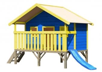 Baumhaus / Stelzenhaus Maxi Set Farbe Karibu Akubi natur 242x153cm Bild 1