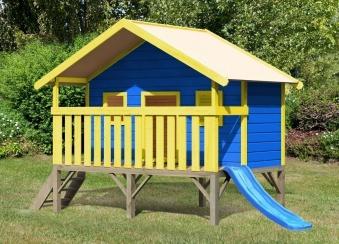 Baumhaus / Stelzenhaus Maxi Set Farbe Karibu Akubi natur 242x153cm Bild 2