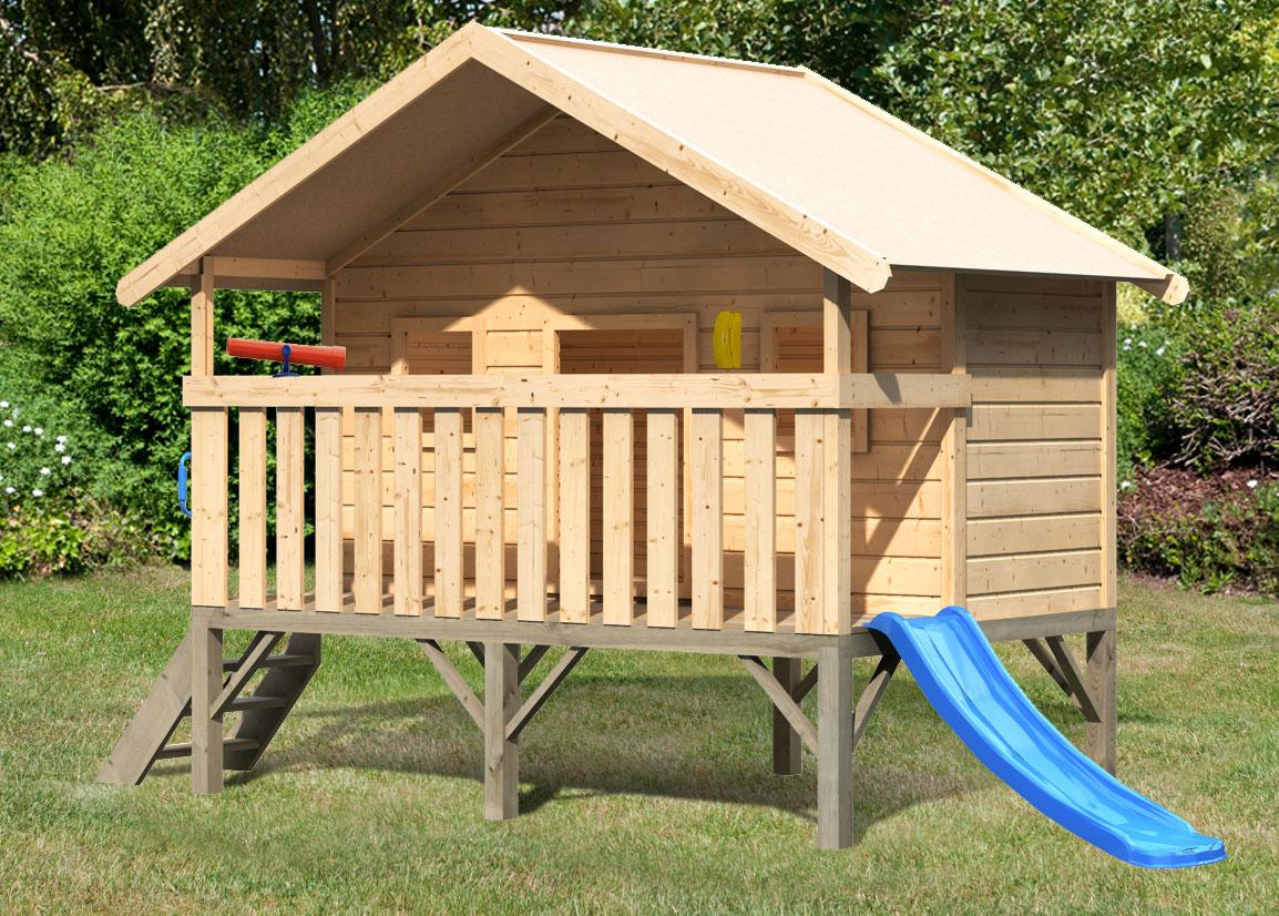 Baumhaus / Stelzenhaus Maxi Set L Karibu Akubi natur 242x153cm Bild 2