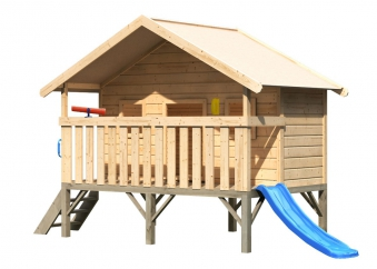 Baumhaus / Stelzenhaus Maxi Set L Karibu Akubi natur 242x153cm Bild 1