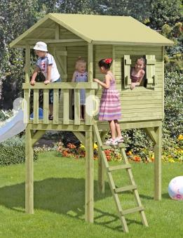Baumhaus / Stelzenhaus Spielhaus Benny 150x240x300cm Bild 1