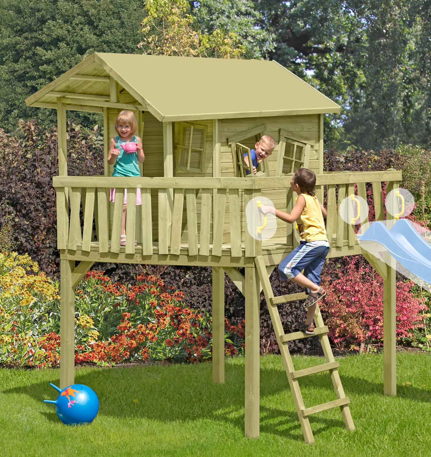 Baumhaus / Stelzenhaus Spielhaus CRAZY Maxi 226x240x300cm Bild 1
