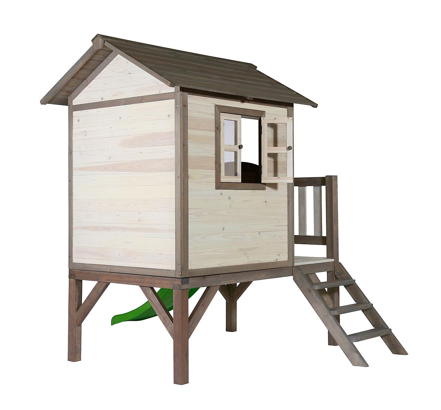 baumhaus stelzenhaus sunny lodge xl mit rutsche 190x260x167cm bei. Black Bedroom Furniture Sets. Home Design Ideas