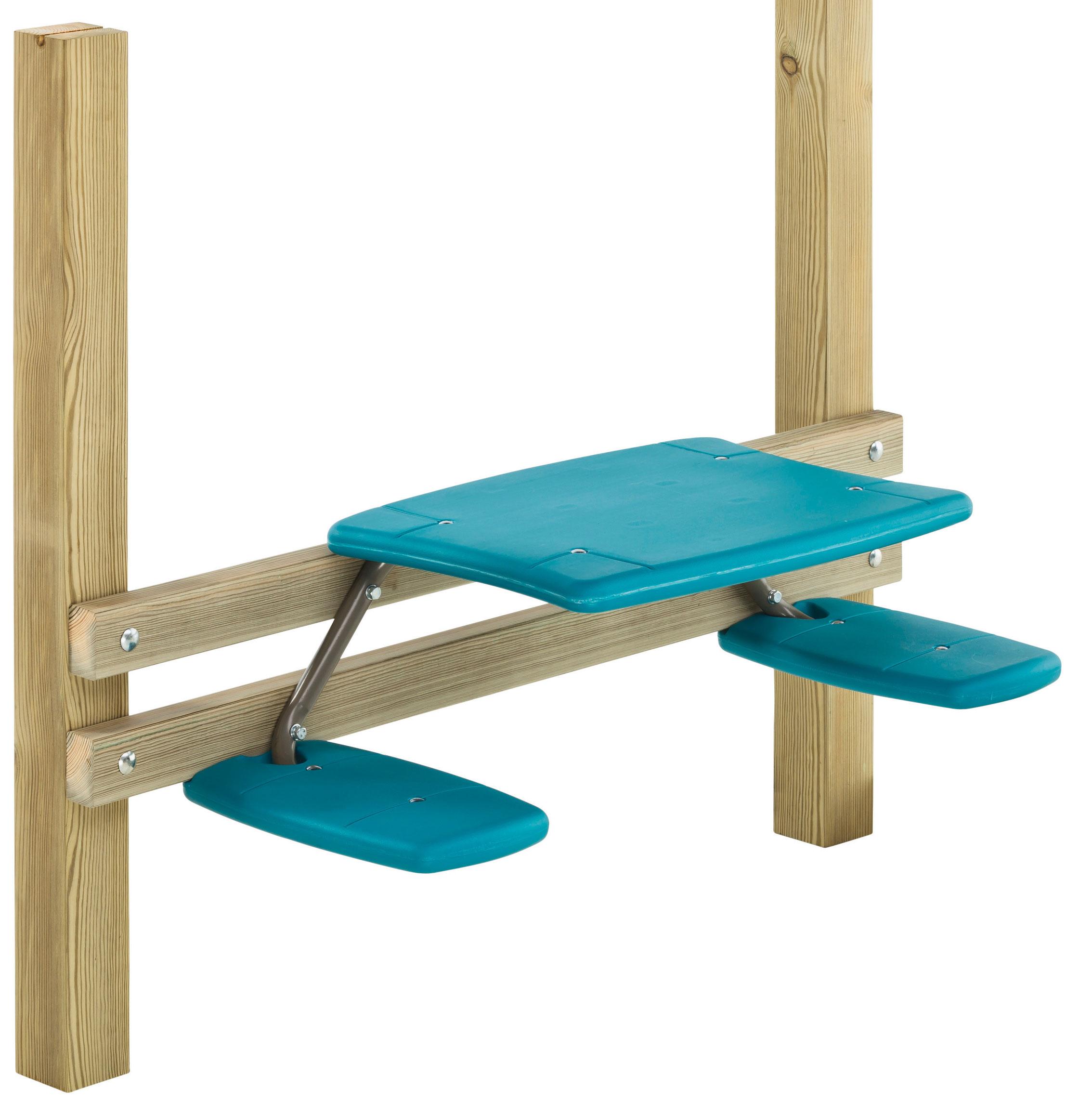 Tisch mit Stühlen Picknick türkis zum Anbau an Spiel- und Stelzenhaus Bild 1