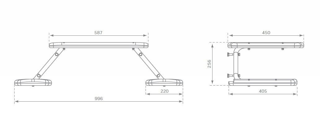 Tisch mit Stühlen Picknick türkis zum Anbau an Spiel- und Stelzenhaus Bild 2