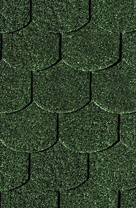 Bitumen Dachschindeln Karibu Biberschwanz dunkelgrün 3m² Bild 1