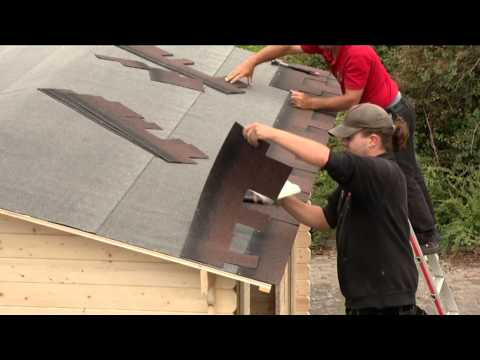 Bitumen Dachschindeln Karibu Biberschwanz dunkelgrün 3m² Video Screenshot 647