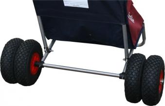 Eckla Achse und 2 Zusatzräder für Zwillingsbereifung für Beach Rolly Bild 1