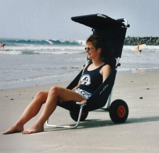 Eckla Beach Rolly mit pannensicherer Bereifung und Sonnendach olivgrün Bild 3