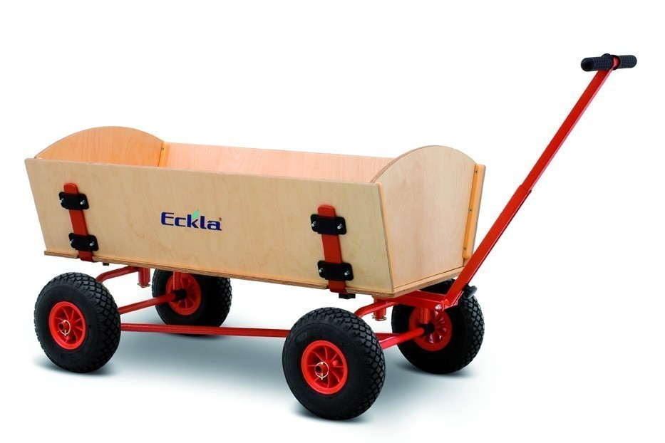 Eckla Bollerwagen zerlegbar Ecklatruck Fun Long 100cm Pannenreifen Bild 1