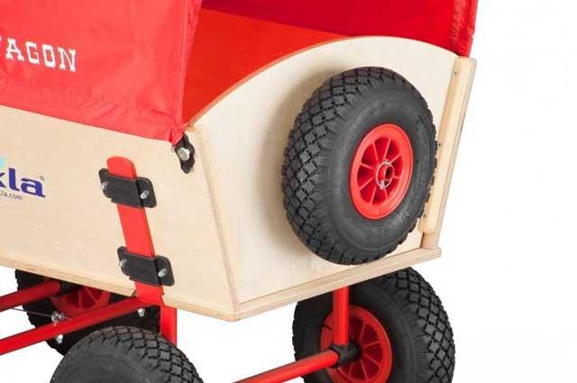 Eckla Ersatzrad mit Rollenlager und Halterung für Bollerwagen Bild 1
