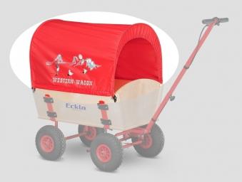 Eckla Planendach Easy Trailer rot Western Wagon Bild 1