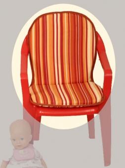 auflage polster f r kinder monoblock gartenstuhl bei. Black Bedroom Furniture Sets. Home Design Ideas
