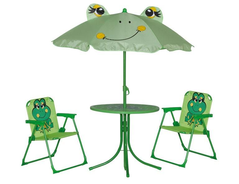 Hollywoodschaukel Holz Selbstbau ~ Kinder Gartenmöbel Set Froggy Bild 1