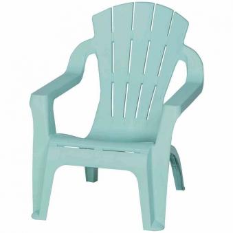 Kinder Gartenstuhl / Kinder Deckchair stapelbar hellblau-türkis Bild 1