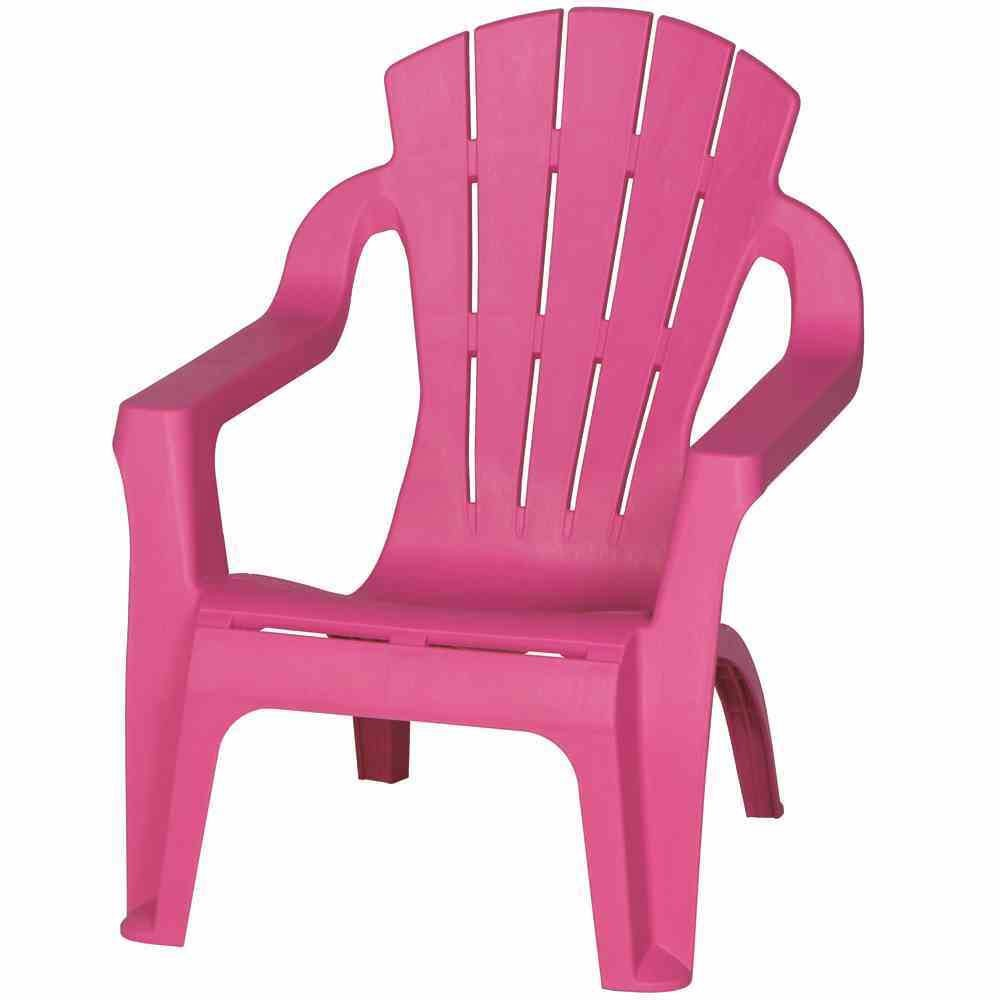 Kinder Gartenstuhl / Kinder Deckchair stapelbar pink Bild 1
