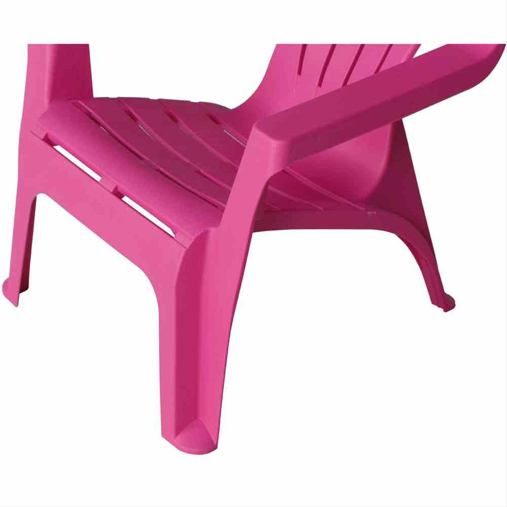Kinder Gartenstuhl / Kinder Deckchair stapelbar pink Bild 3