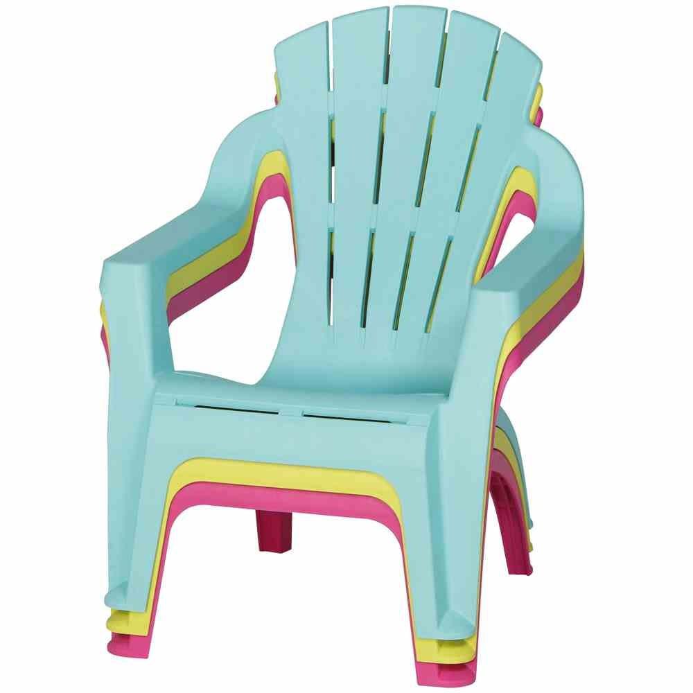 Kinder Gartenstuhl / Kinder Deckchair stapelbar pink Bild 4