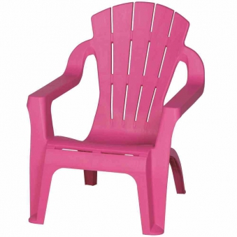 Kinder Gartenstuhl / Kinder Deckchair stapelbar pink