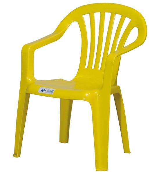 kinder gartenstuhl kinderstuhl kunststoff gelb bei. Black Bedroom Furniture Sets. Home Design Ideas