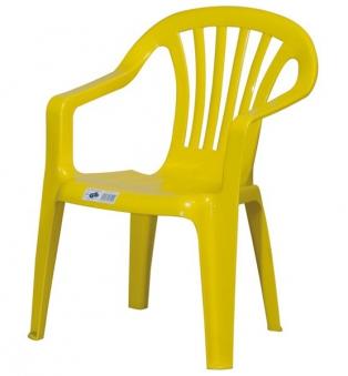 Kinder Gartenstuhl / Kinderstuhl Kunststoff gelb Bild 1