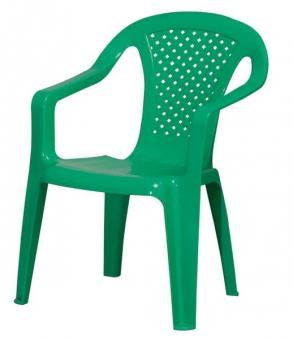 Kinder Gartenstuhl / Kinderstuhl Kunststoff grün Bild 3