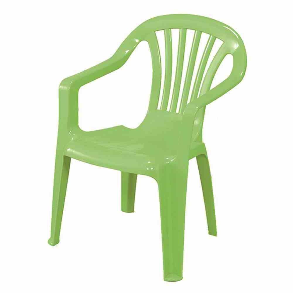 Kinder Gartenstuhl / Kinderstuhl Kunststoff grün Bild 1