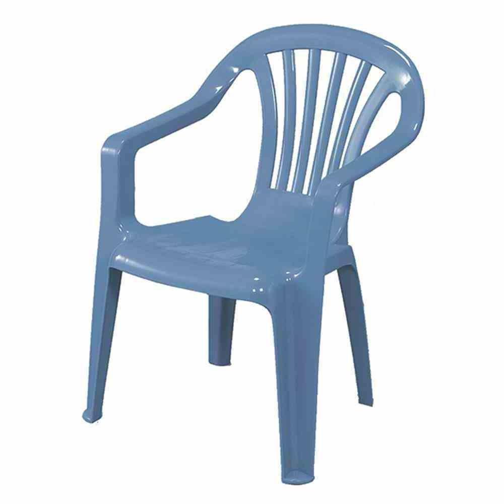 Kinder Gartenstuhl / Kinderstuhl Kunststoff hellblau Bild 1