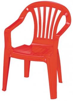 Kinder Gartenstuhl / Kinderstuhl Kunststoff rot Bild 1