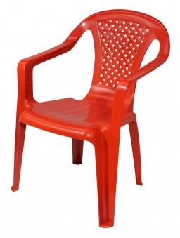 Kinder Gartenstuhl / Kinderstuhl Kunststoff rot Bild 2