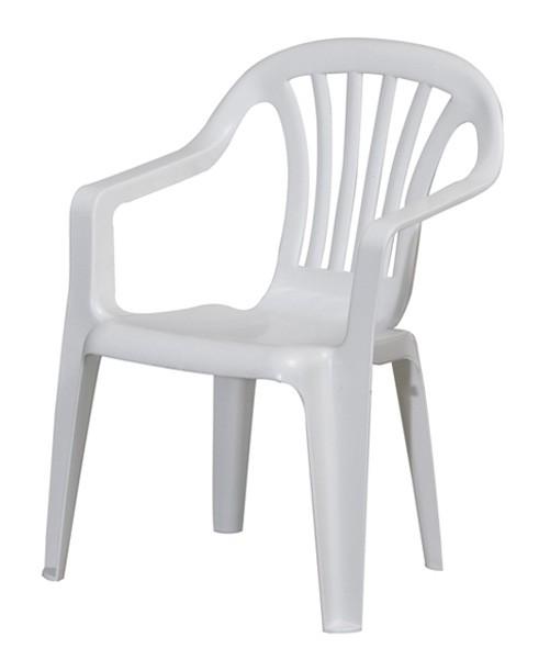 Kinder Gartenstuhl / Kinderstuhl Kunststoff weiß Bild 1