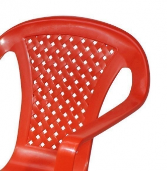 Kinder Gartenstuhl / Kinderstuhl Kunststoff weiß Bild 2