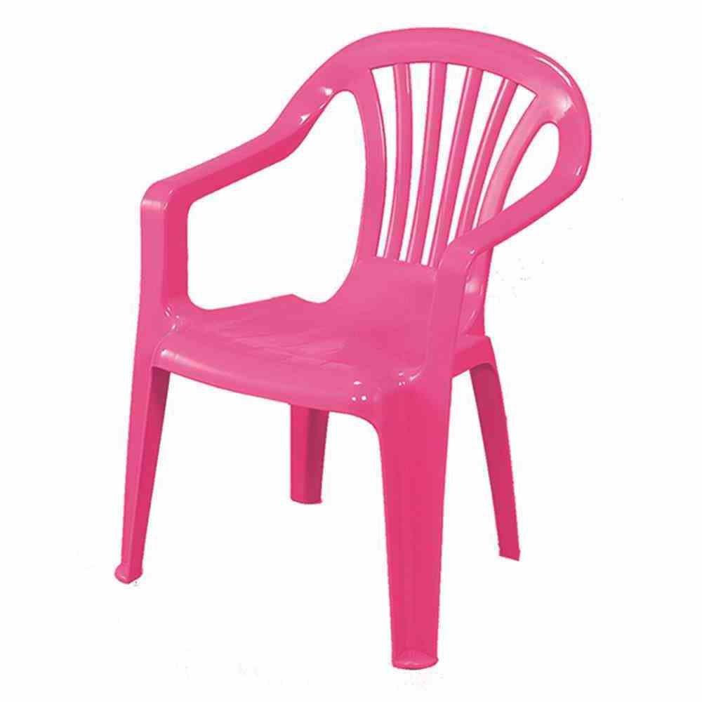 Kinder Gartenstuhl / Stapelstuhl Altea Kunststoff Pink
