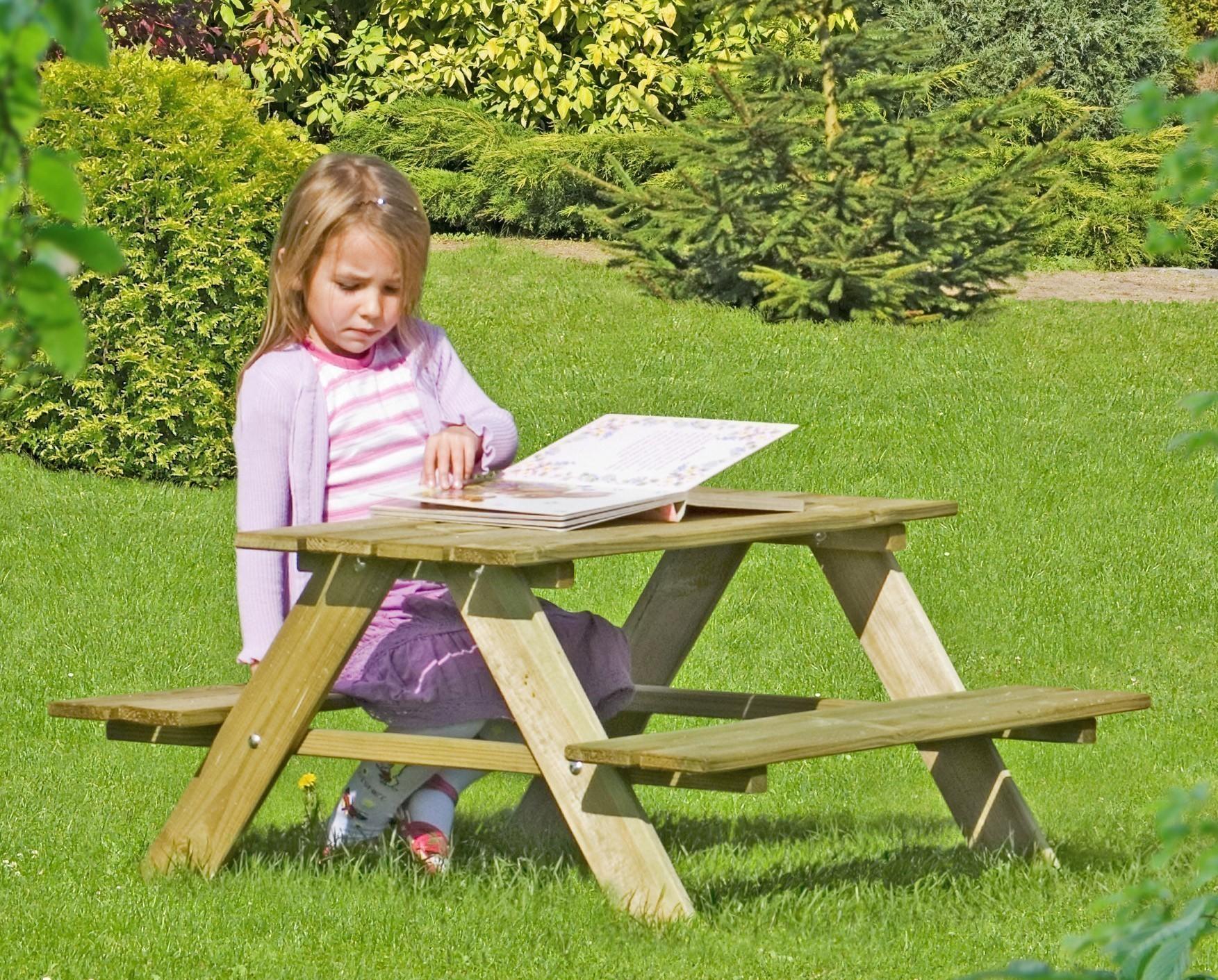 Kindersitzgruppe / Picknicktisch Kiefer kdi 90x90x50cm Bild 1