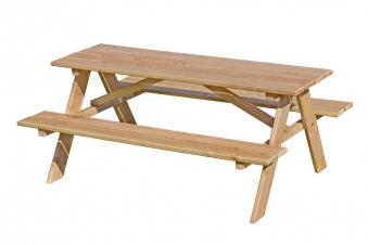 Kindersitzgruppe / Picknicktisch Lärche natur 116x90cm Bild 1