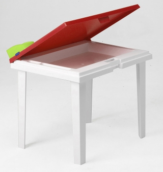Kindertisch Aladino rot / weiß 60x45cm