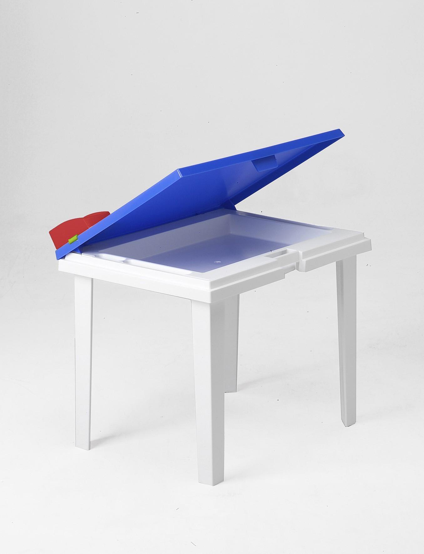 Kindertisch Aladino blau / weiß 60x45cm Bild 1