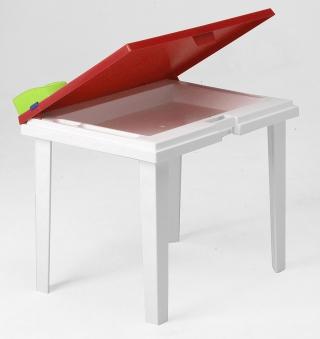 Kindertisch Aladino rot / weiß 60x45cm Bild 1