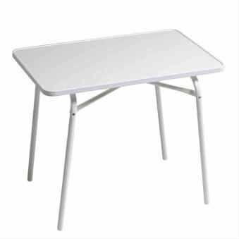 Kindertisch / Gartentisch klappbar weiß Stahl U-Gestell 60x40cm Bild 1