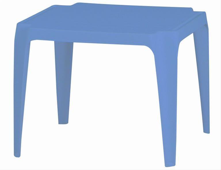 Kindertisch / Gartentisch stapelbar Kunststoff Tavolo Progarden blau Bild 1
