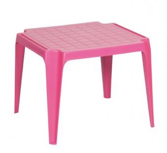 Kindertisch / Gartentisch stapelbar Kunststoff Tavolo Progarden pink Bild 1