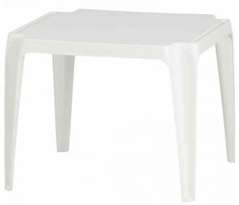 Kindertisch / Gartentisch stapelbar Kunststoff Tavolo Progarden weiß Bild 1