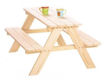 Pinolino Kindersitzgruppe / Picknicktisch Nicki Fichte 90x85x50cm Bild 1