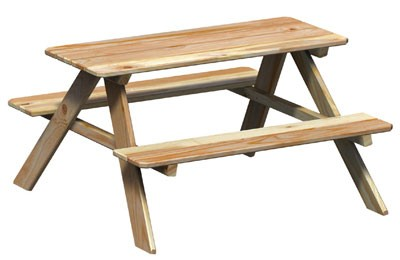 WINNETOO Kindersitzgruppe / Picknicktisch Lärche 89x89x50cm Bild 1