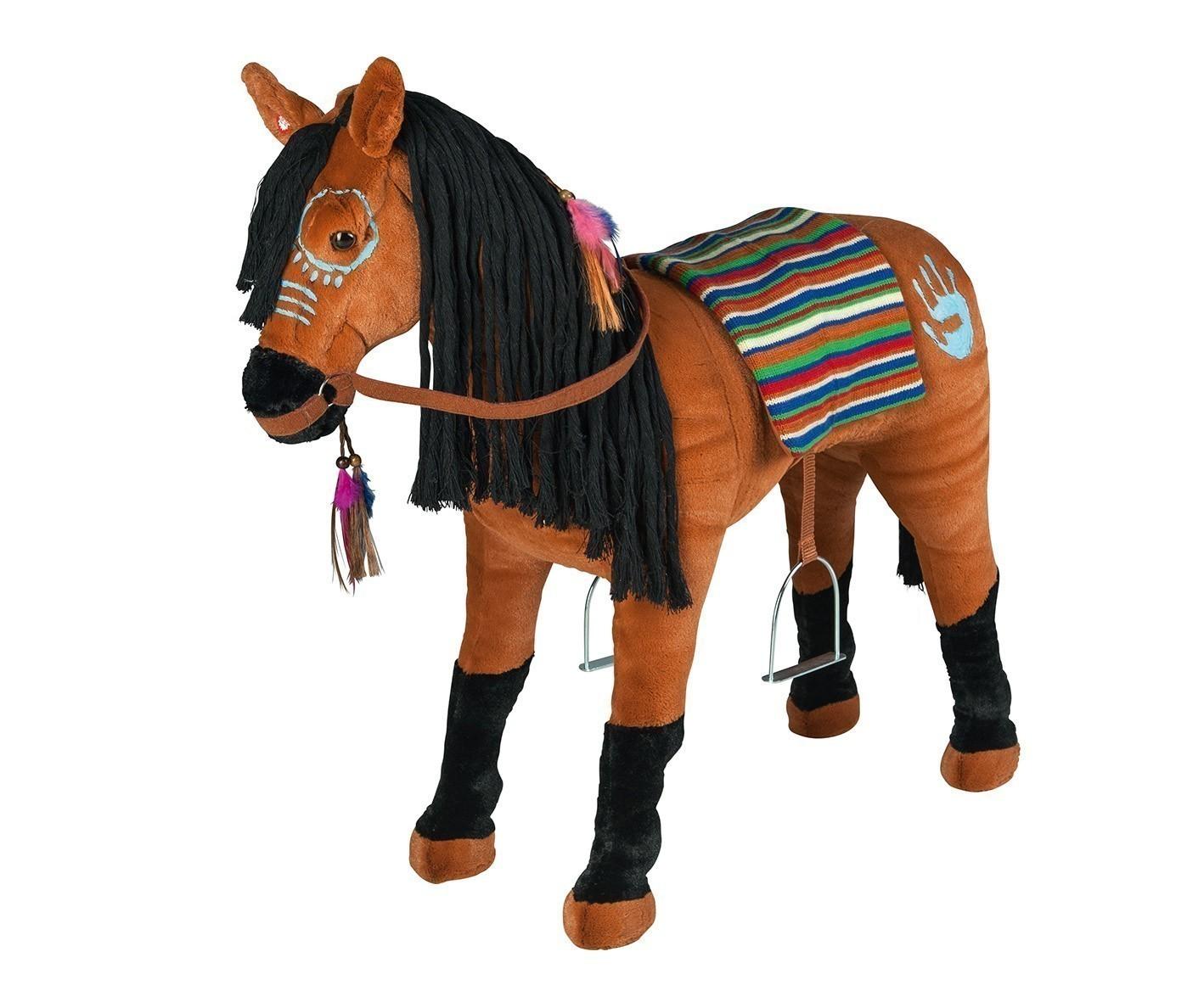 Plüschpferd Indianerpferd mit Sattel + Sound Happy People 58062 Bild 1
