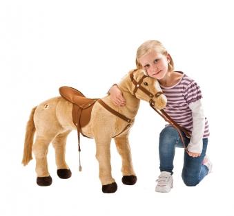 Plüschpferd Palomino Pferd mit Sattel + Sound Happy People 58410 Bild 1