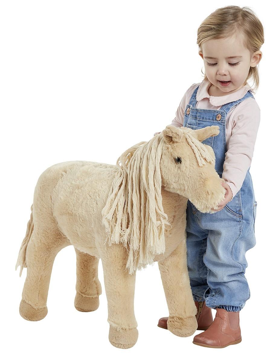 Plüschpferd Shetland Pony mit Sattel + Sound Happy People 58047 Bild 1