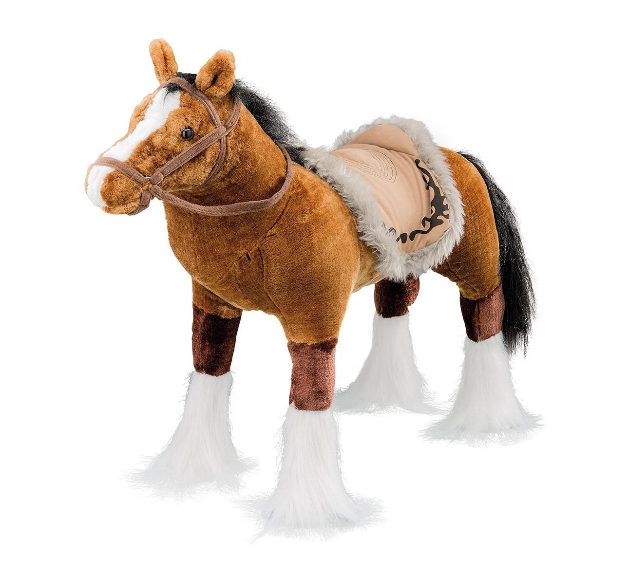 Plüschpferd braunes Pferd mit Sattel + Sound Happy People 8419 Bild 1